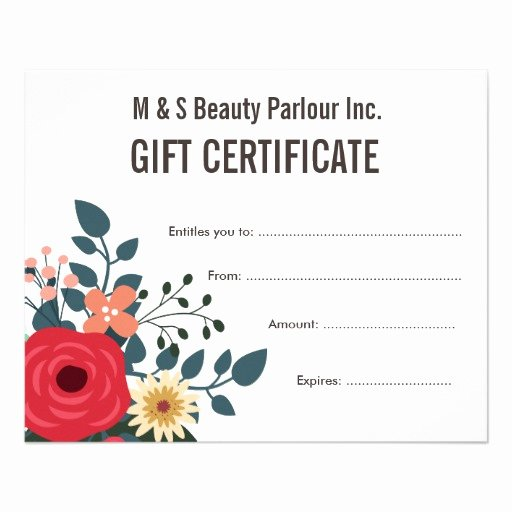 Salon Gift Certificates Templates Luxury Hair Beauty Salon Gift Certificate Template Flyer