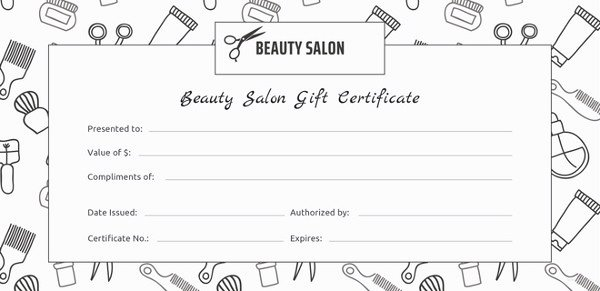 Salon Gift Certificates Templates Unique 155 Gift Certificate Templates – Free Sample Example format Download