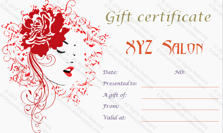 Salon Gift Certificates Templates Unique Gift Certificate Template Beautiful Printable Gift Certificate Templates