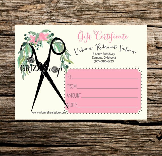 Salon Gift Certificates Templates Unique Set Of 50 Salon Gift Certificates