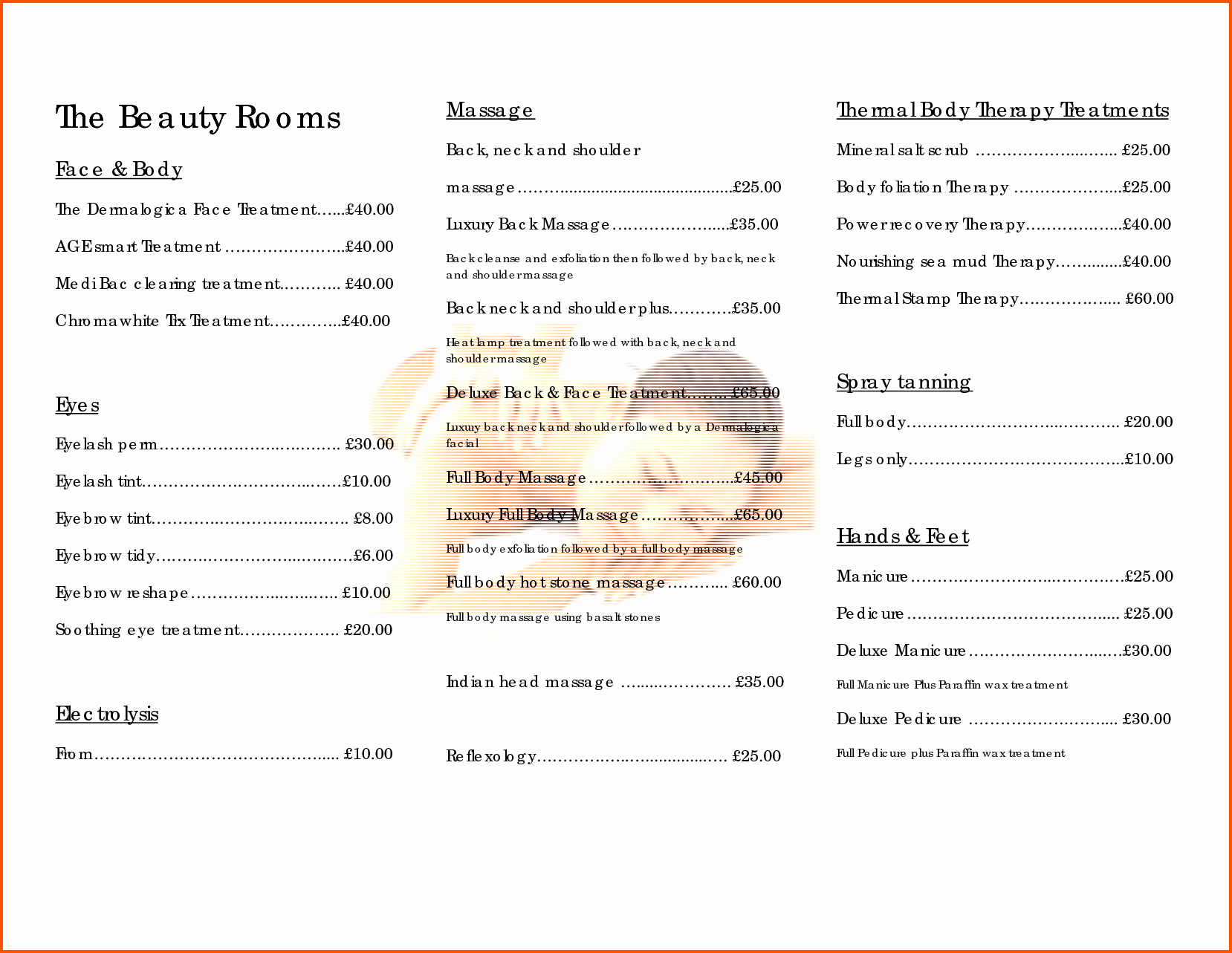Salon Price List Template Awesome 10 Salon Price List Template