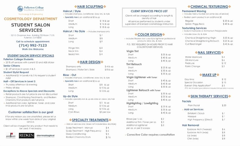 Salon Price List Template Best Of 29 Sample Price List Templates Free Doc Pdf Excel
