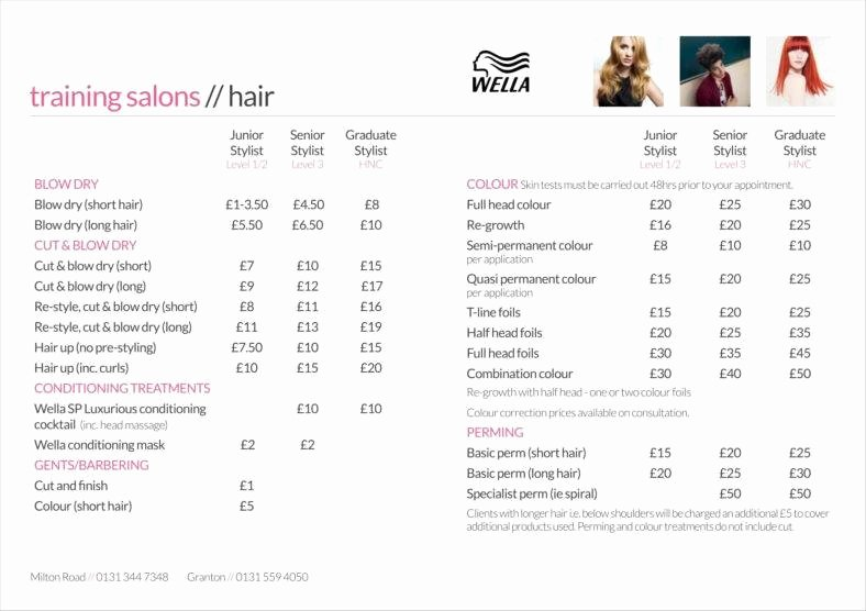 Salon Price List Template Best Of 9 Price List Templates Free Samples Examples Download