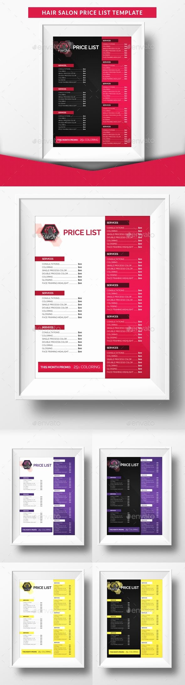 Salon Price List Template Inspirational Pin by Bashooka Web & Graphic Design On Random Design