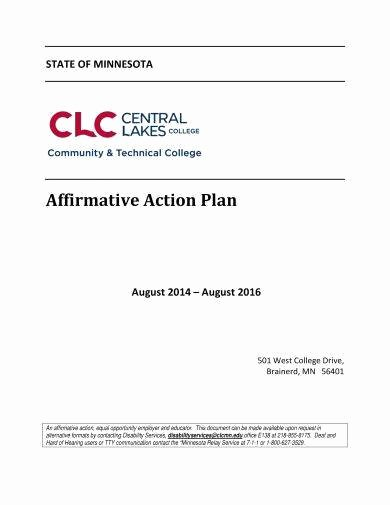 Sample Affirmative Action Plan Beautiful 10 Affirmative Action Plan Examples Word Pdf