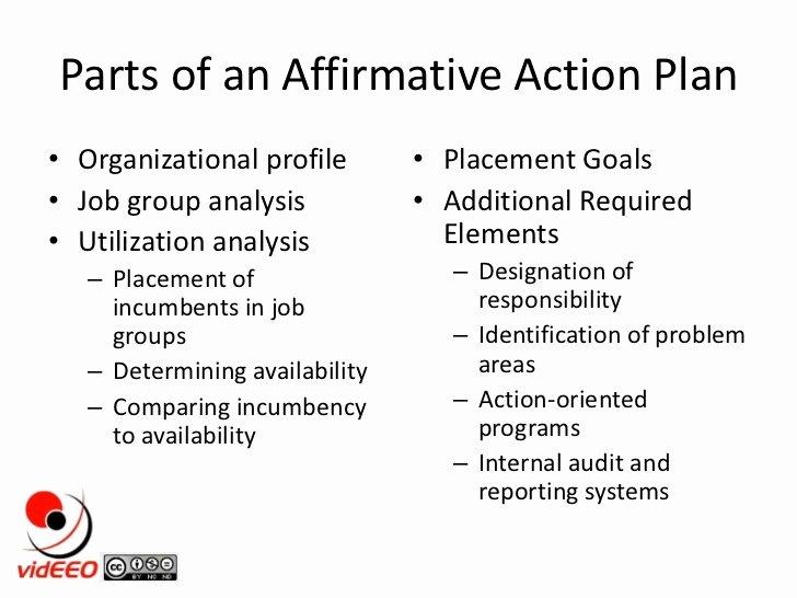 Sample Affirmative Action Plans New Affirmative Action Plans