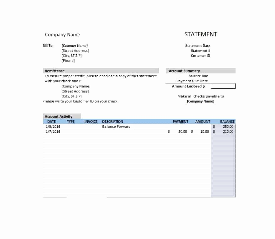 Sample attorney Billing Statement Luxury 40 Billing Statement Templates [medical Legal Itemized More]