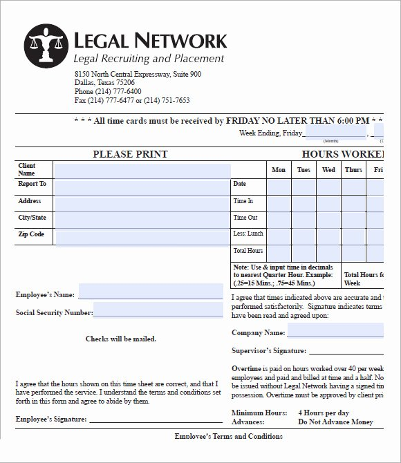 Sample attorney Time Billing Sheet Unique attorney Timesheet Template 9 Free Samples Examples format