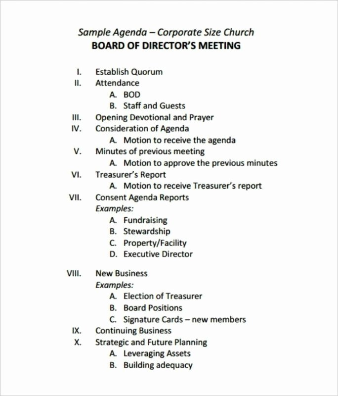 Sample Board Meeting Agenda Fresh Sample Meeting Minutes Template