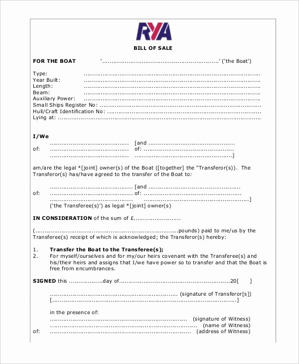 Sample Boat Bill Of Sale Fresh 5 Boat Bill Sale Free Sample Example format