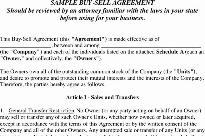 Sample Buy Sell Agreements Elegant 3 Buy Sell Agreement Free Download