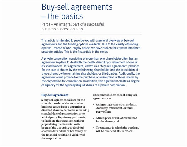 Sample Buy Sell Agreements Luxury 9 Buy Sell Agreement Examples Pdf Doc