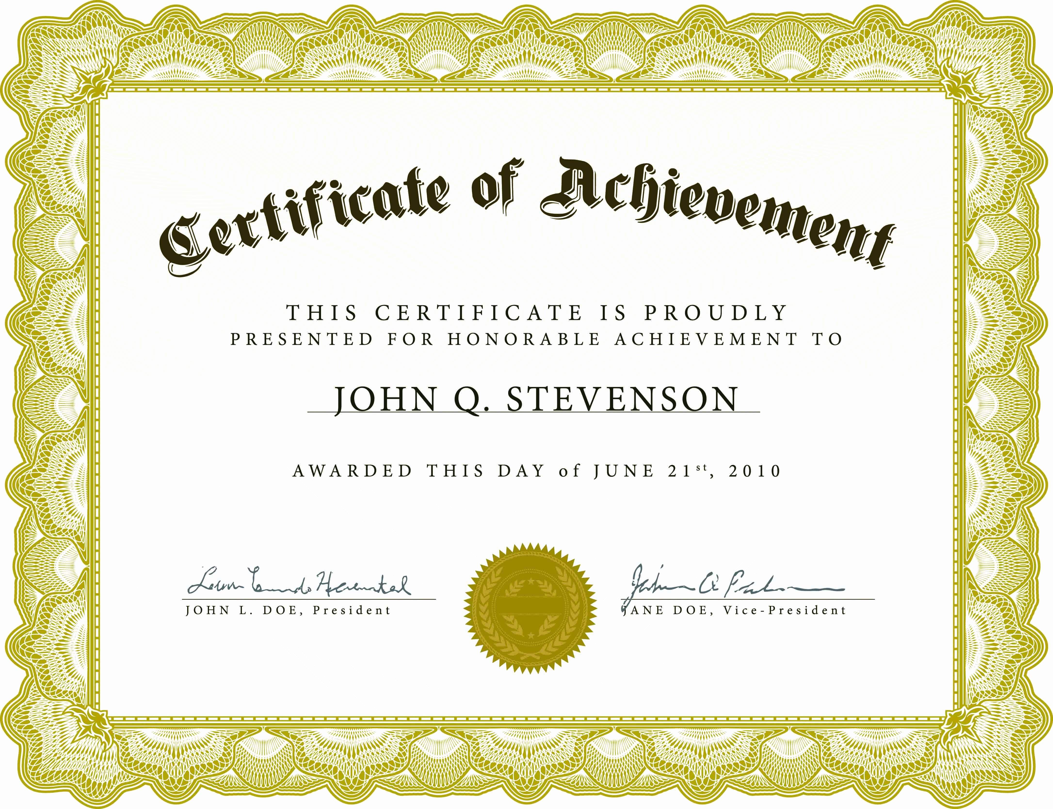 Sample Certificate Of Achievement Awesome Blank Certificate Template X3hr9dto St Gabriel S Youth