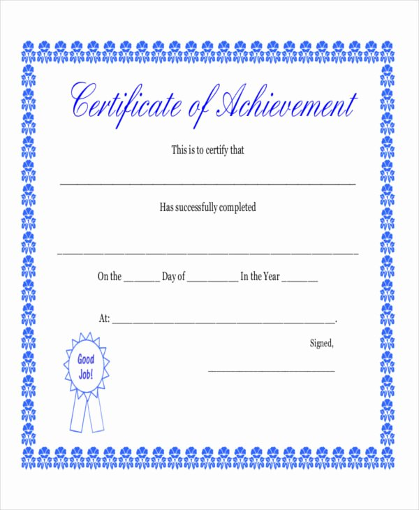Sample Certificate Of Achievement Best Of 8 Sample Certificate Templates – Free Sample Example format Download