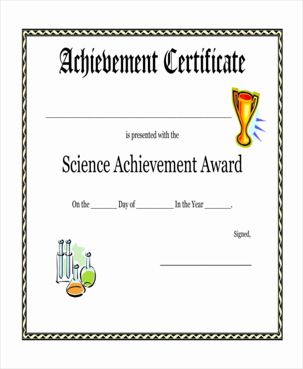 Sample Certificate Of Achievement Best Of Free 47 Award Certificate Examples and Samples In Word Psd Ai Eps Vector