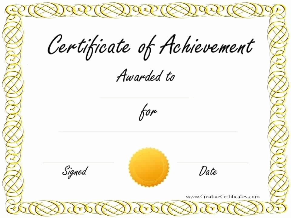 Sample Certificate Of Achievement Fresh Free Customizable Certificate Of Achievement