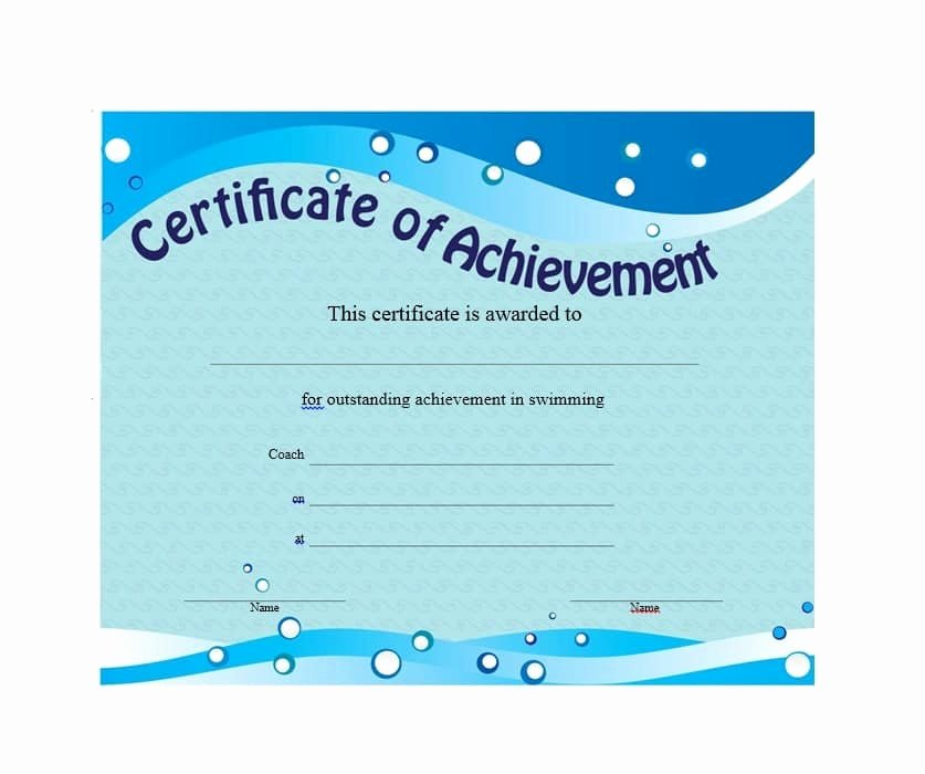 Sample Certificate Of Achievement Inspirational 40 Great Certificate Of Achievement Templates Free Template Archive