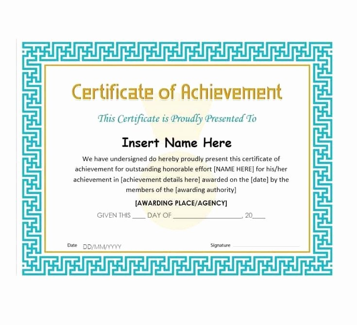 Sample Certificate Of Achievement Inspirational Best 25 Certificate Of Achievement Template Ideas On Pinterest
