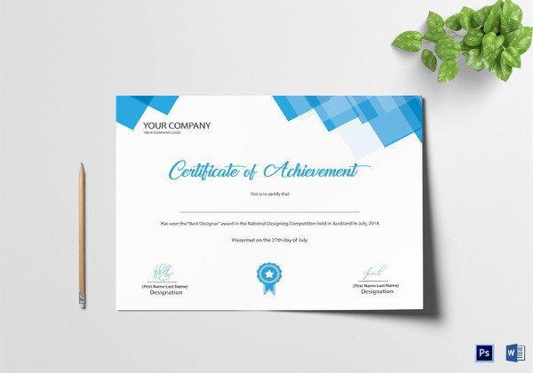 Sample Certificate Of Achievement Lovely 36 Word Certificate Templates