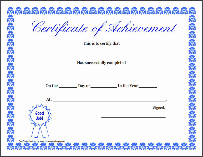 Sample Certificate Of Achievement Lovely Certificate Achievement Template