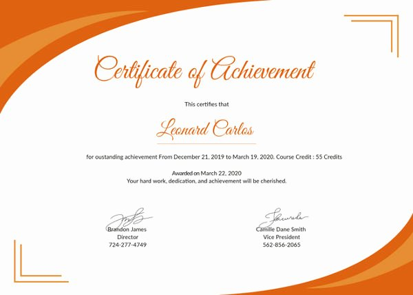 Sample Certificate Of Achievement Unique Certificate Achievement Template 6 Free Pdf Documents Download