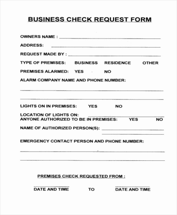Sample Check Request form Awesome Free 10 Sample Check Request forms In Pdf