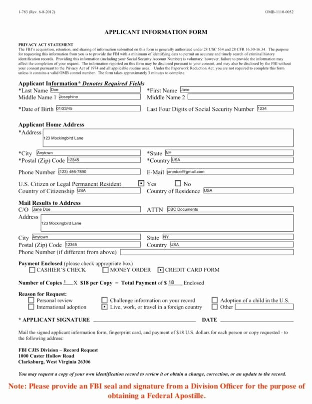 Sample Check Request form Best Of 5 Steps to An Apostilled Fbi Criminal Background Check