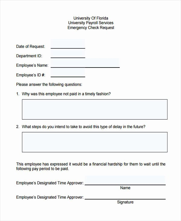 Sample Check Request form Best Of Free 29 Sample Check Request forms
