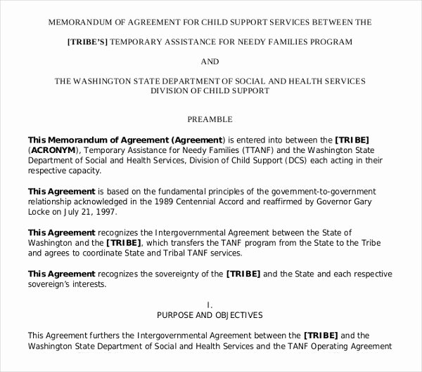 Sample Child Support Agreements New 10 Child Support Agreement Templates Pdf Doc