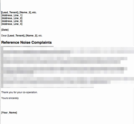 Sample Complaint Letters to Landlord Best Of Anti social Behaviour – Noise Plaint – Letter 1