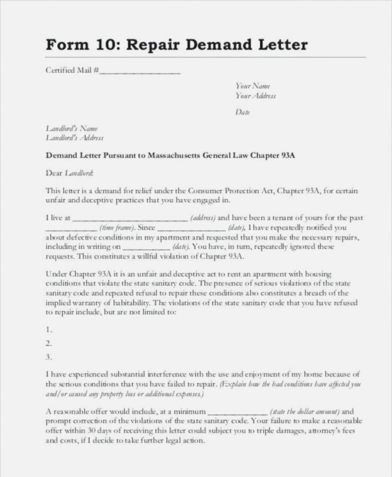 Sample Complaint Letters to Landlord Elegant 12 13 Sample Landlord Letter to Tenant for Repairs