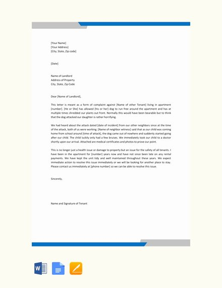 Sample Complaint Letters to Landlord New 15 Plaint Letter Examples Templates In Word Pdf Docs Pages