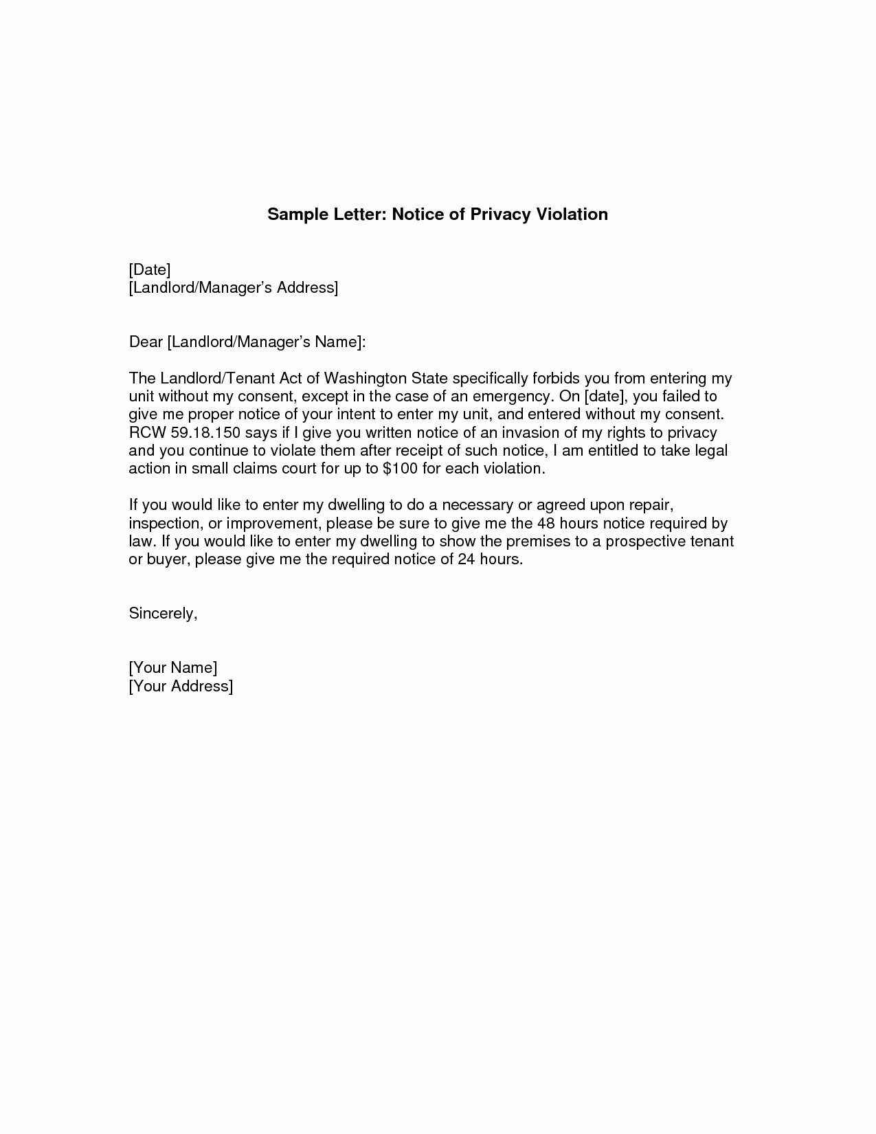 Sample Complaint Letters to Landlord Unique Giving Notice to Landlord Letter Tenant Notice to End Tenancy 2019 02 19