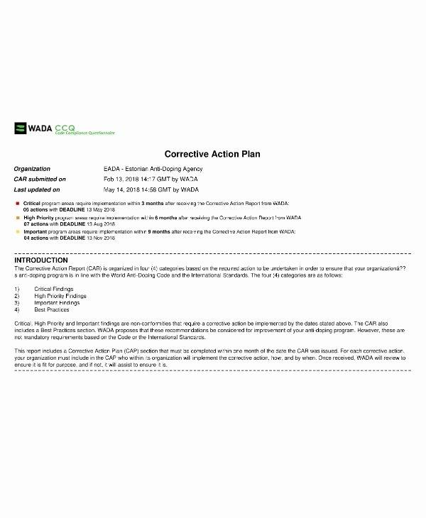 Sample Corrective Action Plan Awesome 14 Corrective Action Plan Templates & Samples Pdf