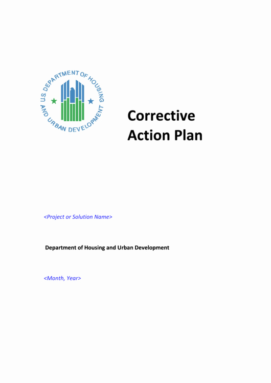 Sample Corrective Action Plan Fresh Corrective Action Plan Sample Printable Pdf