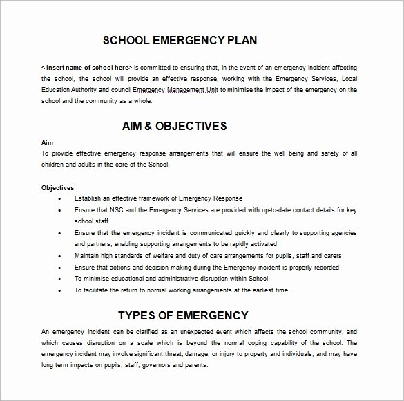 Sample Crisis Management Plan Fresh 16 Emergency Plan Templates Free Sample Example