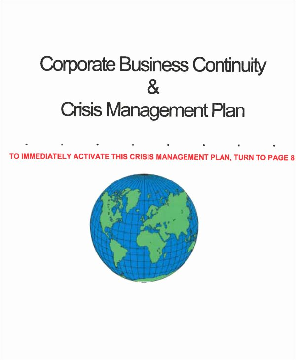 Sample Crisis Management Plan Luxury 12 Crisis Management Plan Templates Sample Word Google