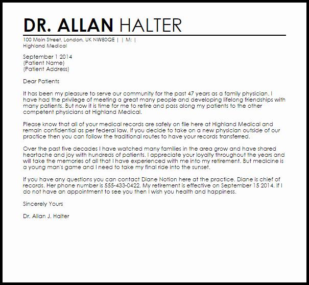 Sample Dental Letters to Patients Unique Patient Dismissal Letter