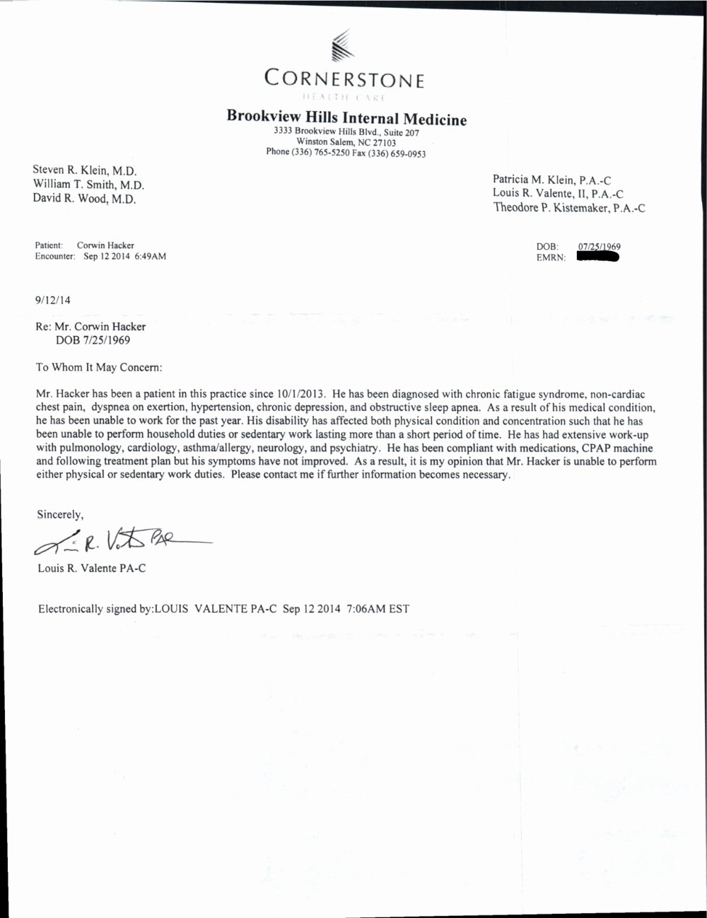 Sample Disability Letter From Doctor Awesome Corey Hacker Disability Fund by Corey E Hacker Gofundme