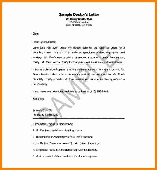 Sample Disability Letter From Doctor Fresh 7 Disability Letter From Doctor
