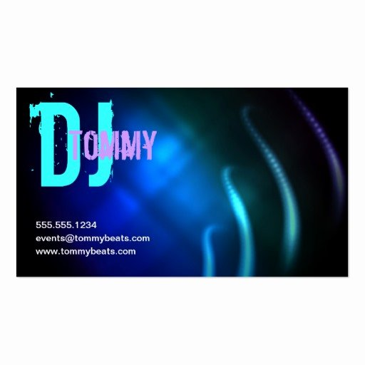 Sample Dj Business Cards Best Of Dj Business Card