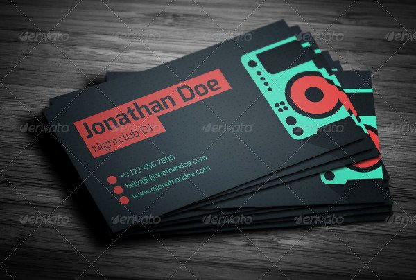 Sample Dj Business Cards Elegant 89 Business Card Templates Pages Indesign Psd Publisher