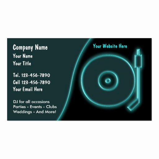 Sample Dj Business Cards Inspirational Dj Business Cards