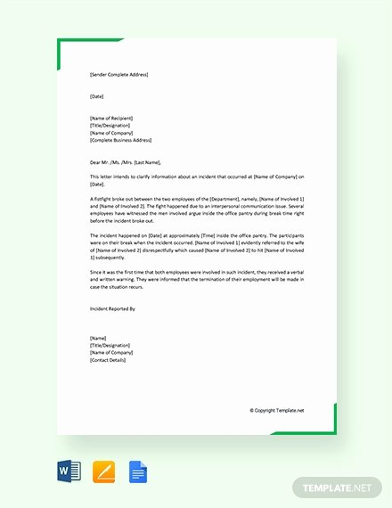 Sample Employee Incident Report Letter Elegant 7359 Free Apple Pages Templates Download Ready Made