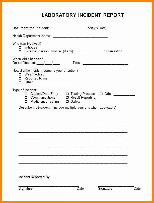 Sample Employee Incident Report Letter Lovely 12 13 Samples Of Incident Reports
