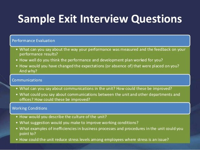 Sample Exit Interview format Lovely A Guide to Exit Interviews
