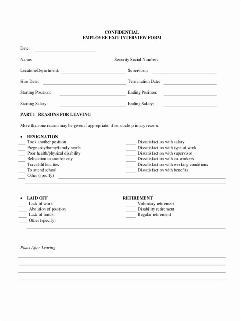 Sample Exit Interview forms Best Of Types Of Exit Interview Documents Free Pdf Doc Excel