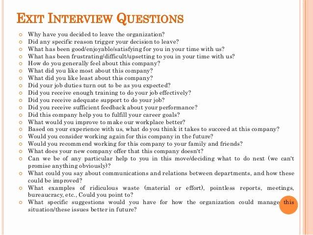 Sample Exit Interview forms Unique Exit Interview