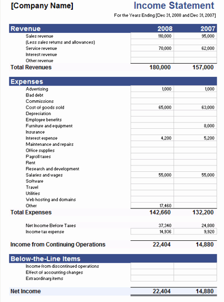 Sample Income Statement Excel Luxury 5 Free In E Statement Examples and Templates