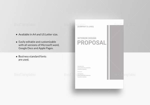 Sample Interior Design Proposal Elegant Sample Interior Design Proposal Template 16 Free